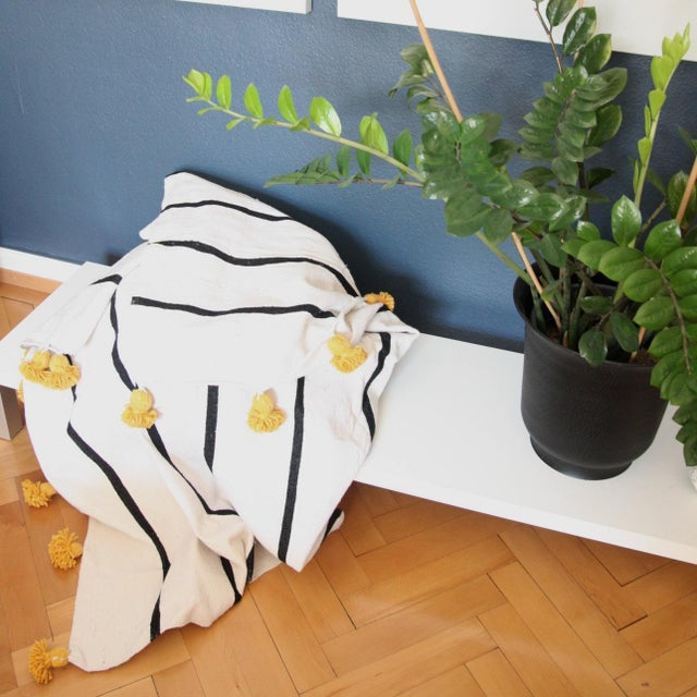 Custom-made tassel throw, this beautiful (and cool) blanket makes a fun and functional addition to your bedroom, living...