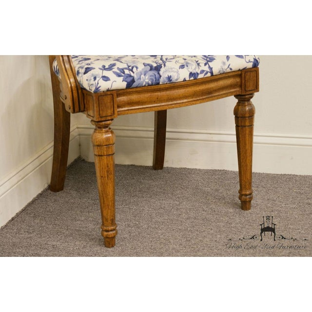 Caning Thomasville Furniture Tapestry Collection Cane Back Dining Arm Chair For Sale - Image 7 of 13