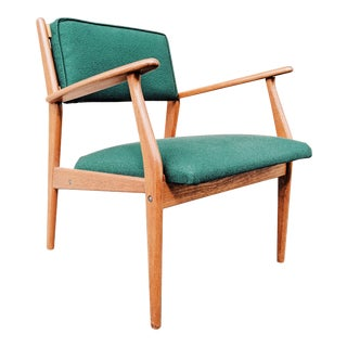 Vintage Mid Century Danish Modern Teak Lounge Chair For Sale