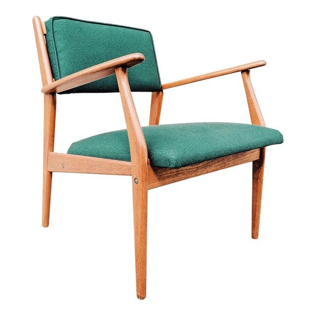 Vintage Mid Century Danish Modern Teak Lounge Chair For Sale