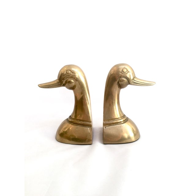 Brass Duck Bookends - Pair - Image 6 of 7