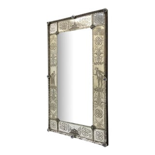 19th Century Antique Italian Venetian Mirror For Sale