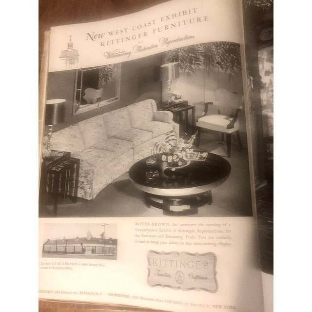 Wood Asian Theodore Muller Lotus Coffee Table for Kittinger With Glass Top For Sale - Image 7 of 7
