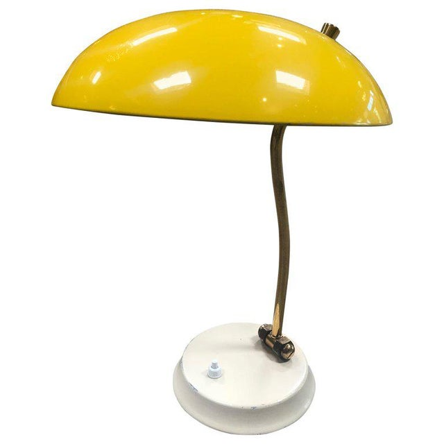 1950s Yellow Midcentury Table Lamp For Sale - Image 10 of 10