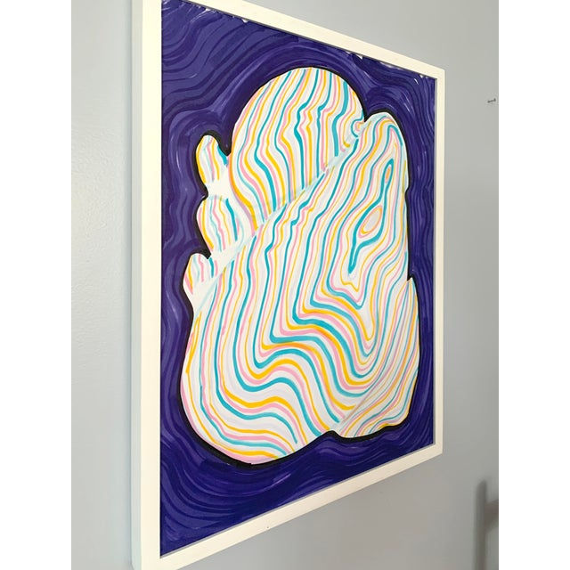 Abstract Stone Contour Painting For Sale - Image 3 of 6