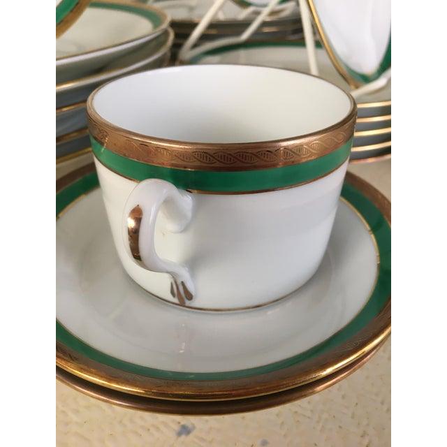 1980s Vintage Richard Ginori Palermo Green 6-Place Dinnerware Set For Sale - Image 5 of 10