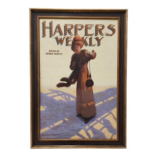 "George Watson Barratt (American, 1884-1962) ""Harpers Weekly"" Original Illustration C.1912 For Sale"