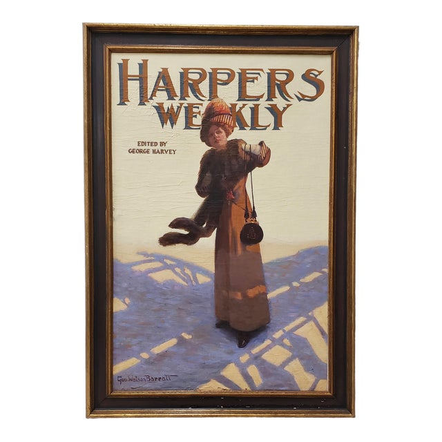 "George Watson Barratt (American, 1884-1962) ""Harpers Weekly"" Original Illustration c.1912 An original illustration for..."