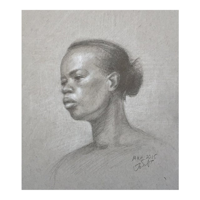 Original Graphite Life Sketch of Female Beauty For Sale