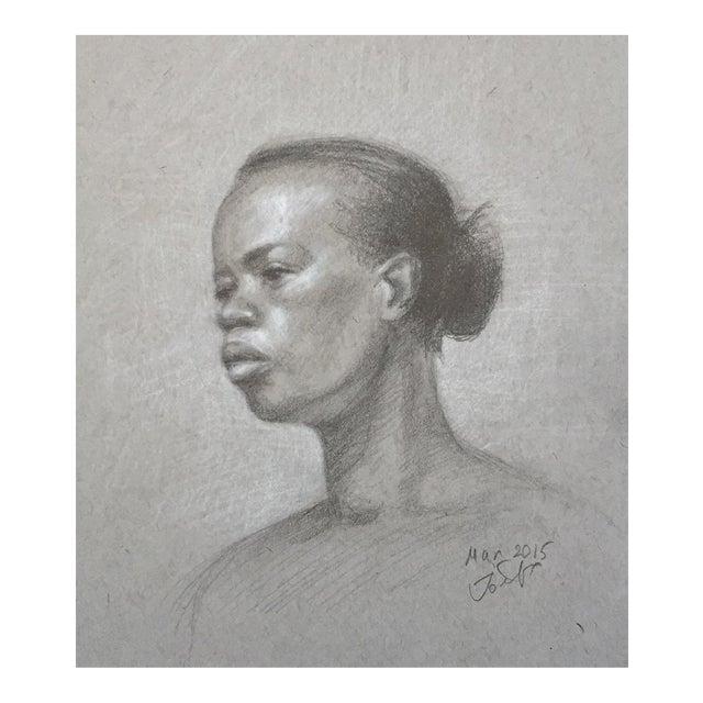 Original Graphite Life Sketch of Female Beauty - Image 1 of 4
