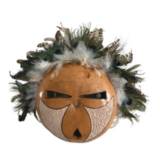 Hand Carved Gourd Mask of Magic