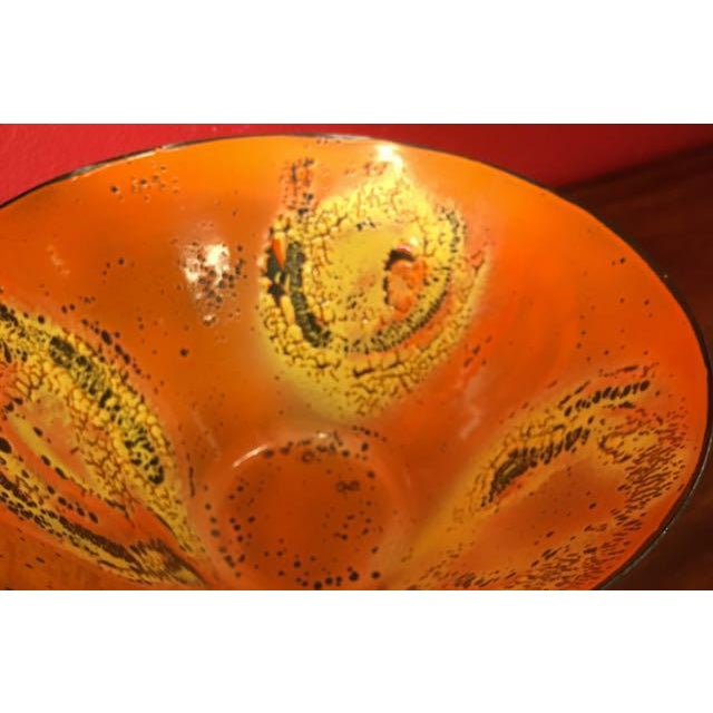 Mid-Century Enamel Centerpiece Bowl - Image 6 of 10