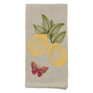 Cottage Lemon Tea Towel For Sale
