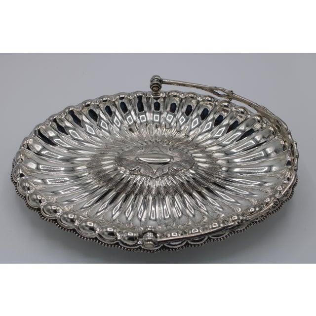 """Lovely antique bridal basket, produced by Meriden Britannia Co. circa 1850. Historically, a """"bride's basket"""" was given as..."""