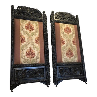 Meiji Period Japanese Phoenix Carved Doors / Screens, a Pair For Sale