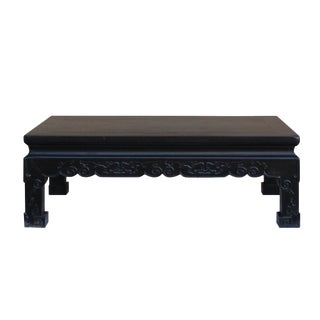 Chinese Handmade Dark Brown Rosewood Low Kang Table Stand For Sale