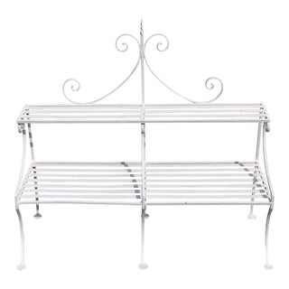 Late 19th Century Antique Hand Wrought Iron English Plant Stand For Sale