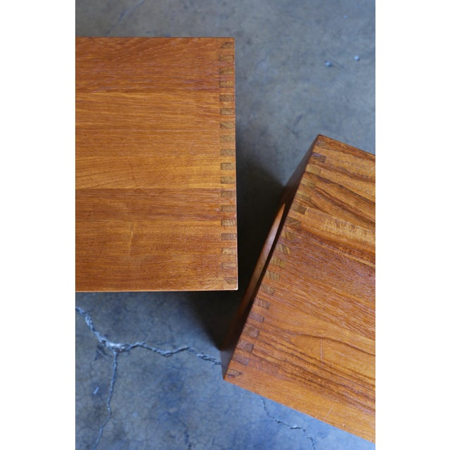 1960s Peter Hvidt for Richard Nissen Cube Nesting Tables - a Pair For Sale - Image 11 of 12