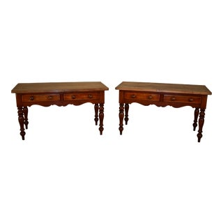 19th Century English Sideboards - a Pair For Sale
