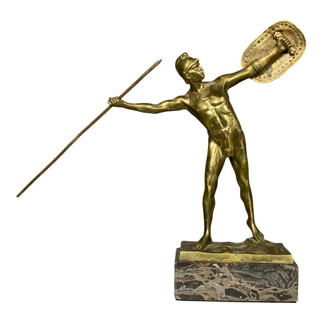 F. Thierman Bronze Gladiator Sculpture C.1900, Germany For Sale