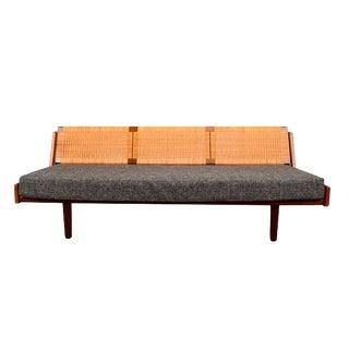 1960s Vintage Danish Hans Wagner for Getama Ge7 Teak Sofa Bed For Sale