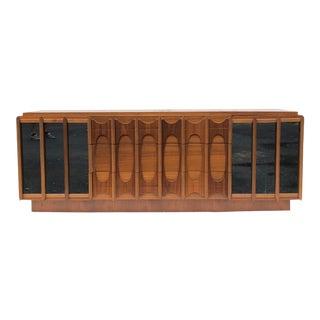 Mid-Century Brutalist Modern Nine Drawer Dresser For Sale