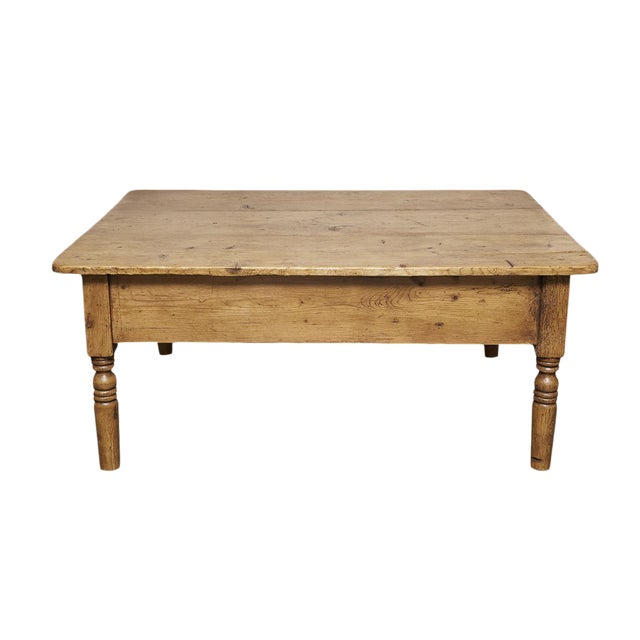 English Pine Coffee Table - Image 1 of 8