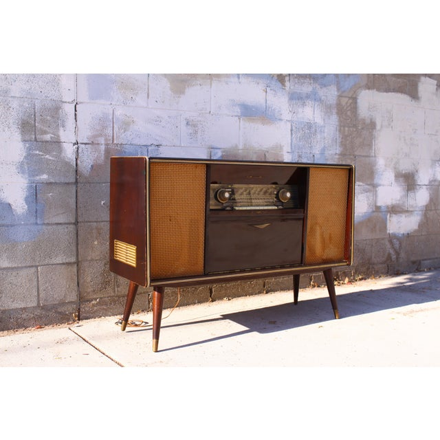 Mid Century German Emud Stereo Console For Sale - Image 4 of 11