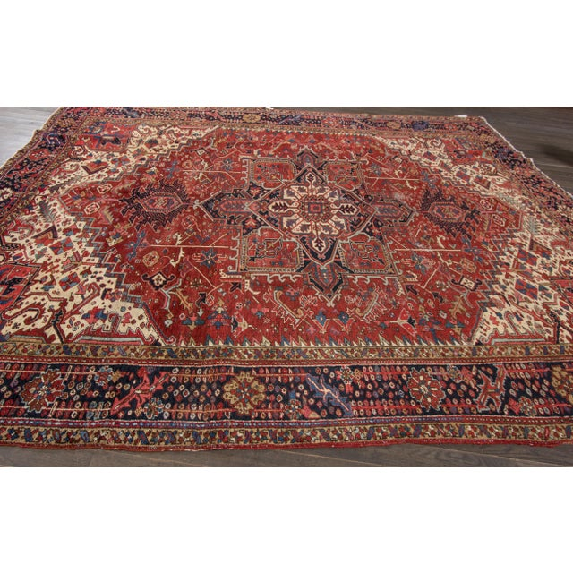 """Apadana - Vintage Persian Rug, 9'3"""" x 12'7"""" For Sale In New York - Image 6 of 7"""