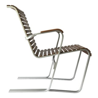 Aluminum and Wood Chair by Marcel Breuer For Sale