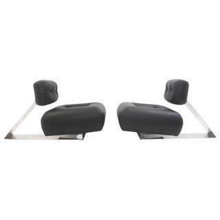 "Pair of Rare ""Aran"" Lounge Chair Oscar Niemeyer For Sale"