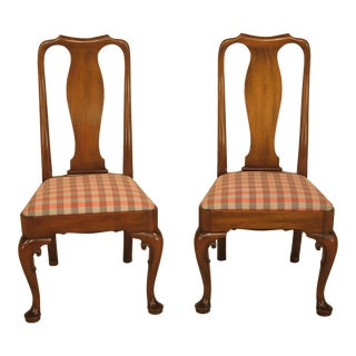 Kittinger Colonial Williamsburg Mahogany Side Chairs - A Pair For Sale