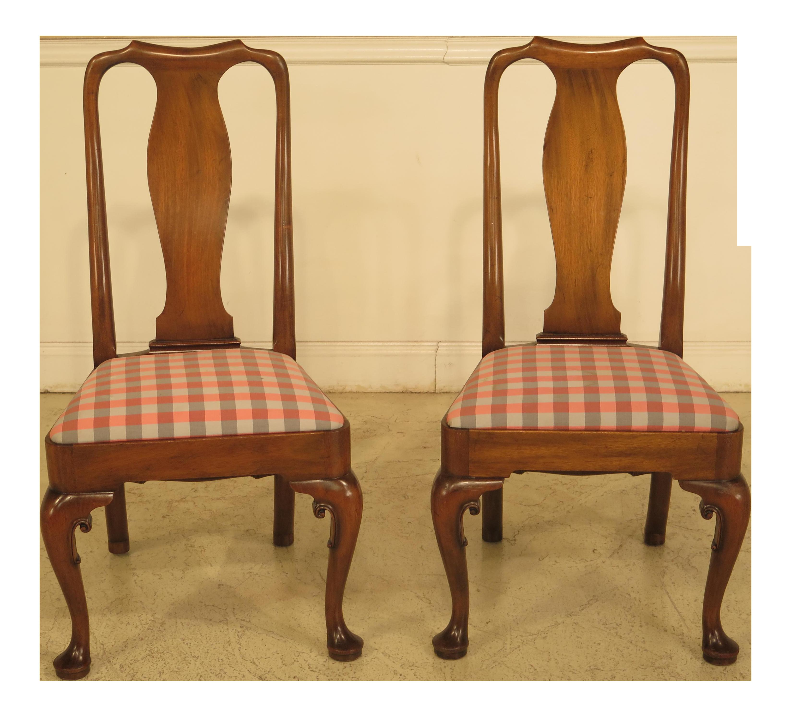 Kittinger Colonial Williamsburg Mahogany Side Chairs   A Pair   Image 1 Of  11