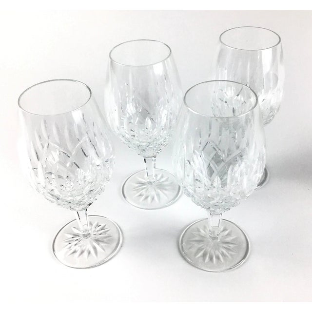 Cut Crystal Heavy Water Glasses - Set of 4 For Sale - Image 10 of 10