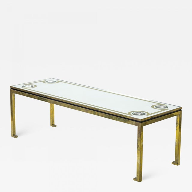 Not Yet Made - Made To Order Andre Hayat Exclusive Long Bronze Coffee Table With Mirrored Top & Lense Effect For Sale - Image 5 of 5
