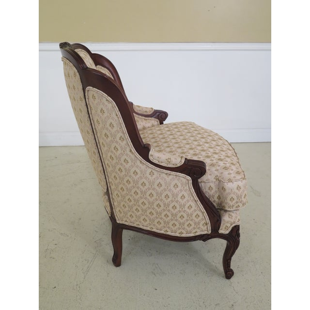 1990s 1990s Vintage Drexel Heritage French Louis XV Style Upholstered Chair For Sale - Image 5 of 11