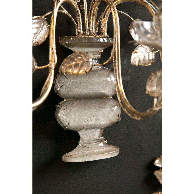 1930s French Silver Leaf Sconces - a Pair For Sale In New York - Image 6 of 9