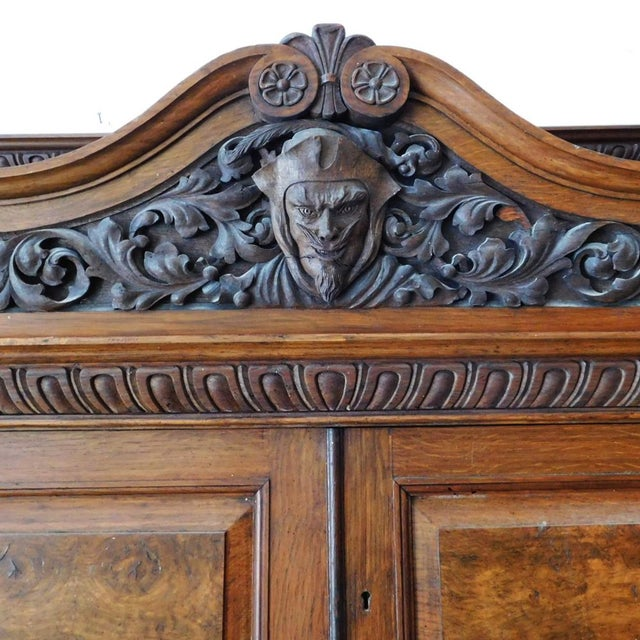 Early 20th Antique European Hutch For Sale - Image 4 of 10