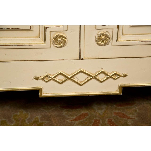 Maison Jansen Ivory Painted Bookcase - Image 9 of 10