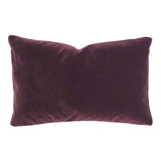 "Pollack Sedan Plush in Imperial Purple Pillow Cover - 12.5"" X 20"" Dark Purple Velvet Cushion Case For Sale"