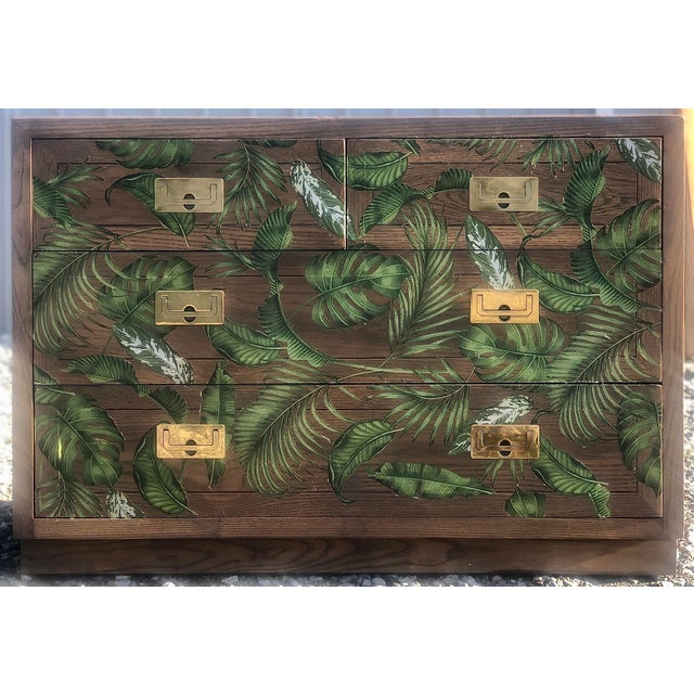 Henredon Campaign Style Scene One Bachelor's Chest For Sale - Image 11 of 11