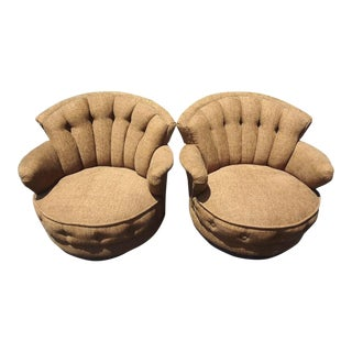 Milo Braughman Swivel Chairs - a Pair For Sale
