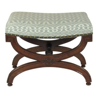 Late 19th C. English Regency Bench For Sale