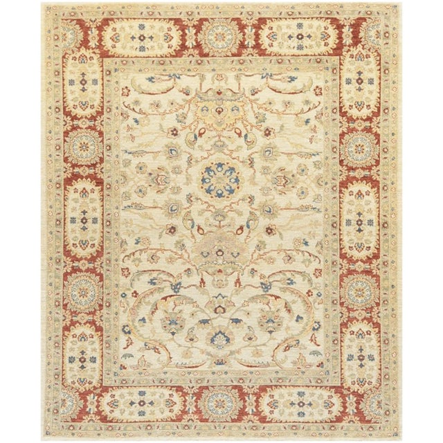 Islamic Mansour Genuine Handwoven Sultanabad Rug - 8' X 10' For Sale - Image 3 of 3