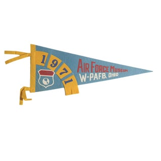 Vintage 1971 Air Force Museum Felt Flag Pennant For Sale