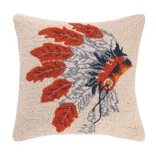 Native American Headdress Hook Pillow For Sale
