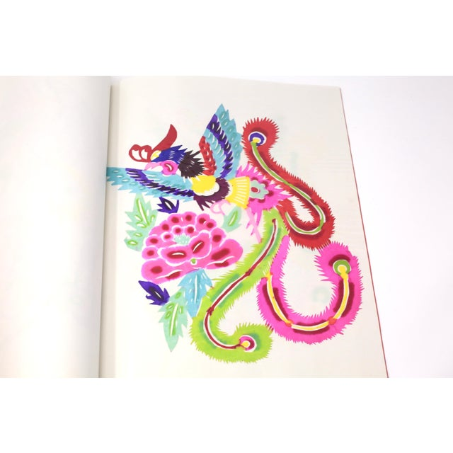 Vintage Colorful Hand Sewn Book With Individual Chinese Paper Cutting Art - Set of 8 For Sale - Image 4 of 11