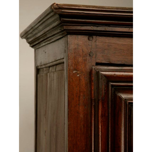 Exquisite 17th C. Hand-Carved French Louis XIV Bonnetiere/Armoire For Sale - Image 10 of 11