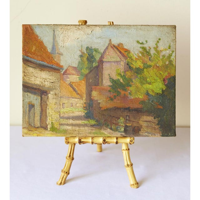 Mid-Century French Village Impressionist Painting - Image 5 of 6
