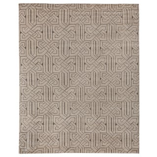 Cambrai Flatweave Wool Ivory/Gray Rug - 8'x10' For Sale
